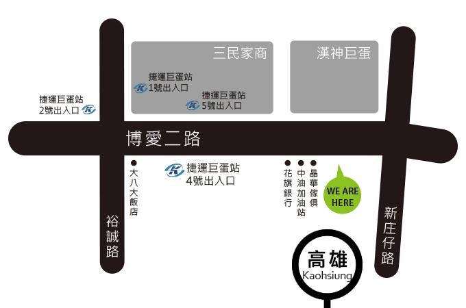 高雄左營巨蛋地圖